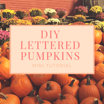 DIY Lettered Pumpkins 🎃